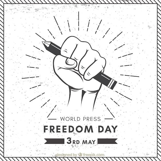 Tło Dzień Wolności Prasy światowej W Stylu Retro Darmowych Wektorów