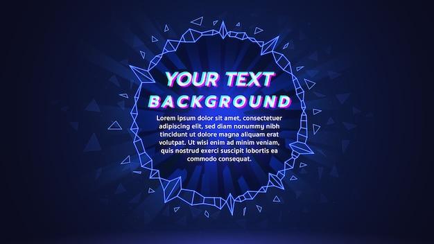 Tło ekranu internetowego muzyka elektroniczna w kolorze niebieskim Premium Wektorów