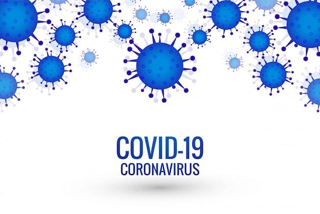 Tło Epidemii Koronawirusa Covid-19 Darmowych Wektorów