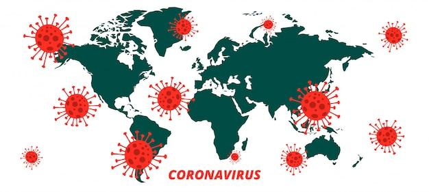 Tło Epidemii Pandemii Zakażenia Koronawirusem Globalnym Covid-19 Darmowych Wektorów