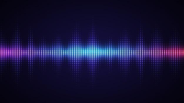Tło Fali Dźwiękowej Premium Wektorów