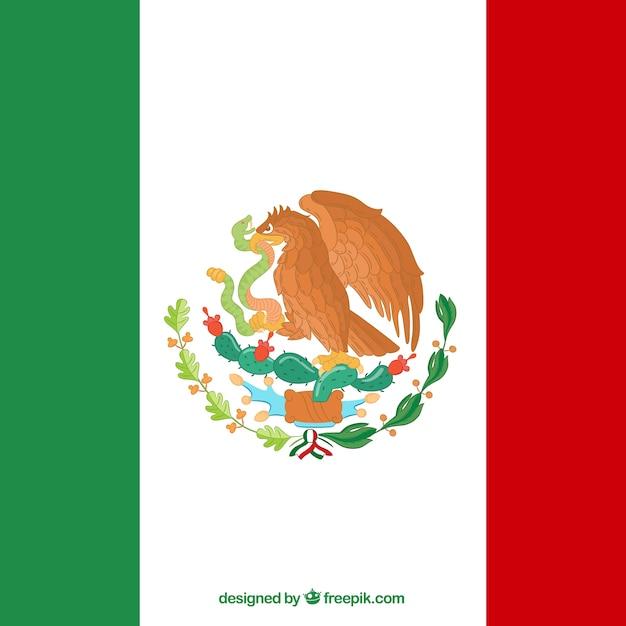 Tło Flaga Flatmexican Darmowych Wektorów