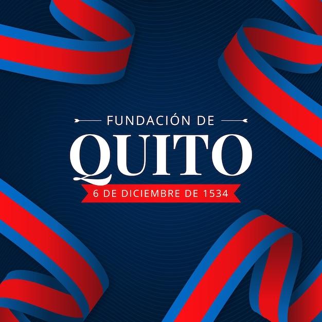 Tło Fundación De Quito Darmowych Wektorów