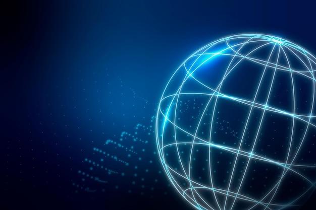 Tło Globalnego Połączenia Sieciowego Darmowych Wektorów
