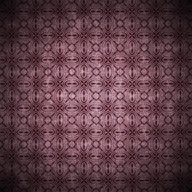 Tło Grunge W Stylu Vintage W Kolorze Fioletowym Z Abstrakcyjnymi Ornamentami I Kwiatami Darmowych Wektorów