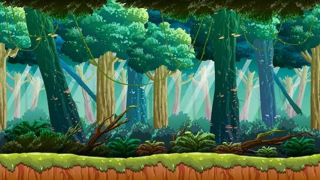 Tło Gry Dżungli Premium Wektorów