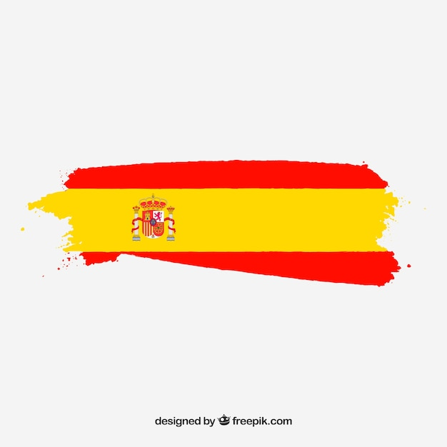 Tło hiszpańskiej flagi Darmowych Wektorów