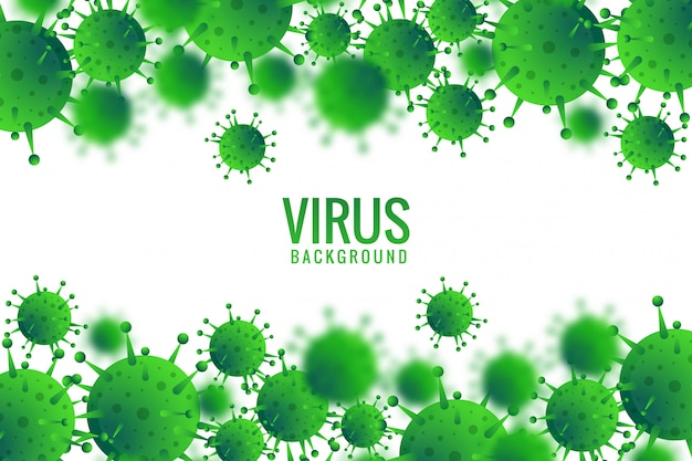 Tło Infekcji Wirusowej Lub Bakteryjnej Darmowych Wektorów