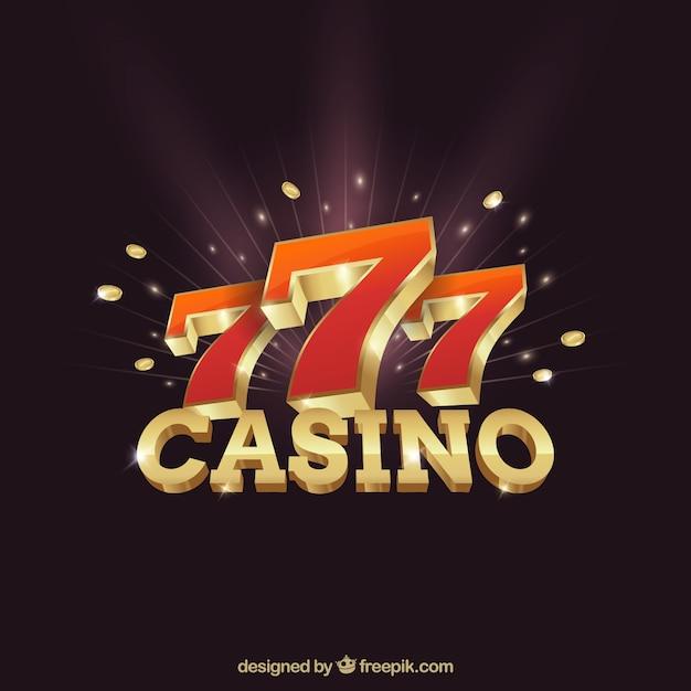 Tło kasyna z numerem siedmiu Darmowych Wektorów