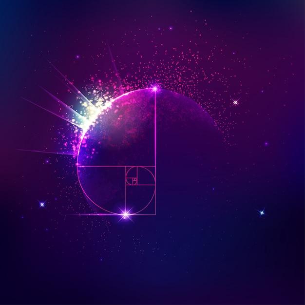 Tło Kosmologii Lub Astronomii Premium Wektorów