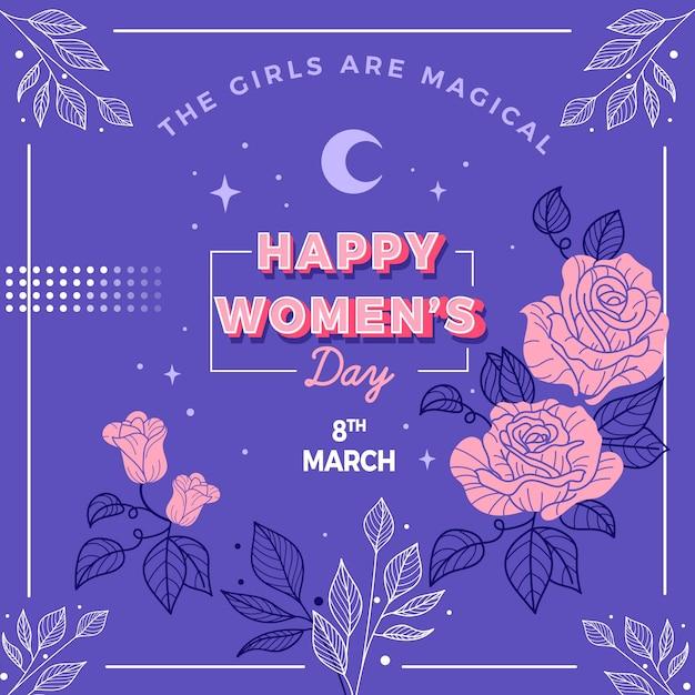 Tło Kwiatowy Dzień Kobiet Darmowych Wektorów