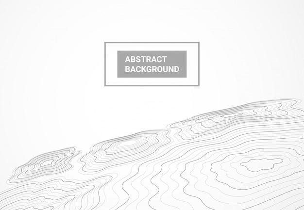 Tło mapy topografii geodezji krajobrazu Premium Wektorów