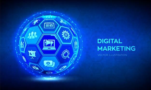 Tło Marketingu Cyfrowego Premium Wektorów