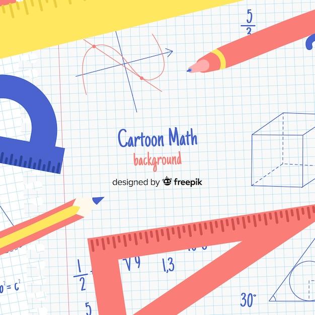 Tło Matematyczne Koncepcja Kreskówka Premium Wektorów