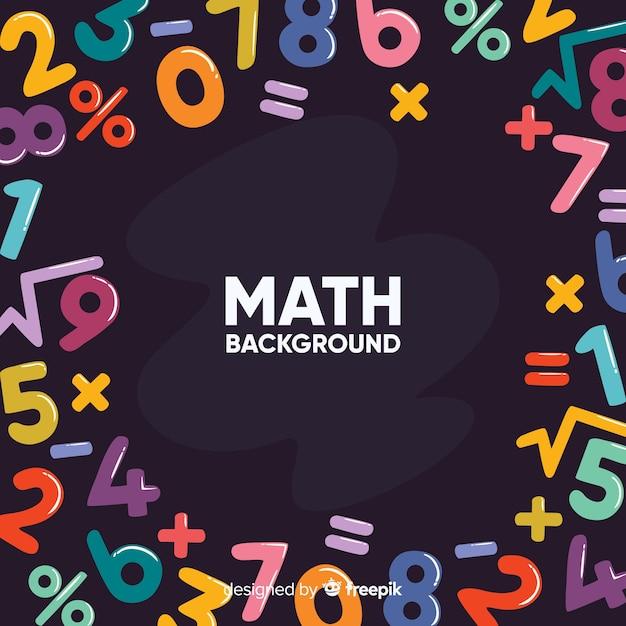 Tło matematyczne tablica kreskówka Darmowych Wektorów