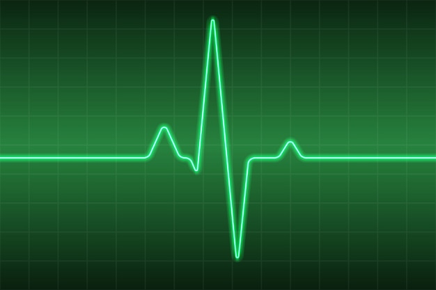 Tło Medyczne Opieki Zdrowotnej Z Ekg Pulsu Serca Premium Wektorów