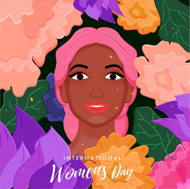 Tło Międzynarodowego Dnia Kobiet. Premium Wektorów