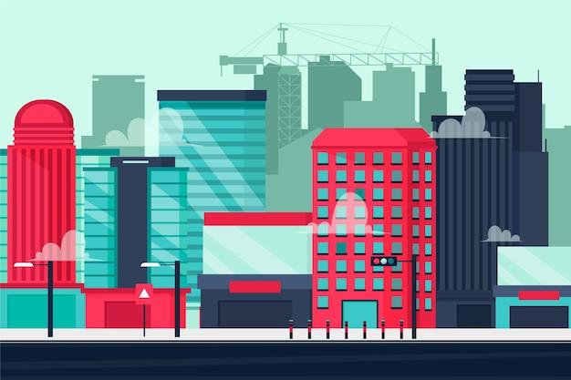 Tło Miejskie Miasta Do Wideokonferencji Darmowych Wektorów