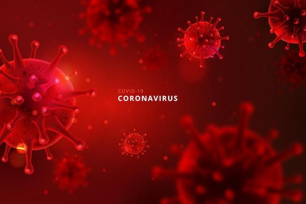 Tło Monochromatyczne Koronawirusa Darmowych Wektorów
