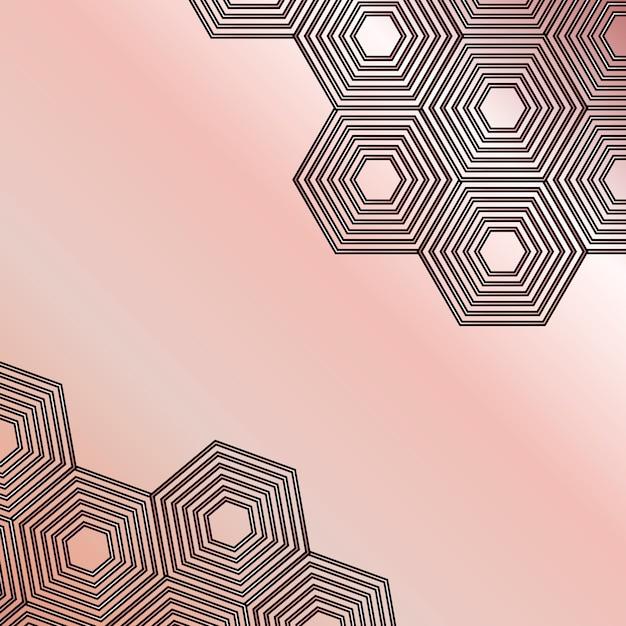 Tło Mozaiki W Różowe Złoto I Czerń Premium Wektorów