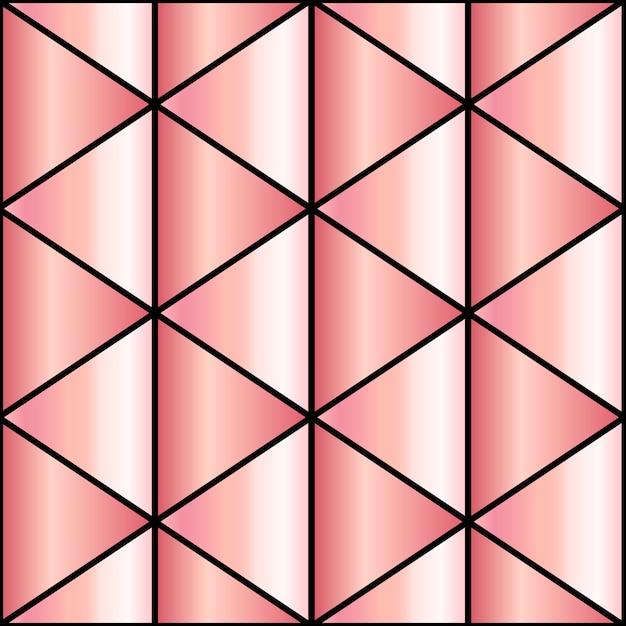 Tło Mozaiki W Różowym Złocie Premium Wektorów
