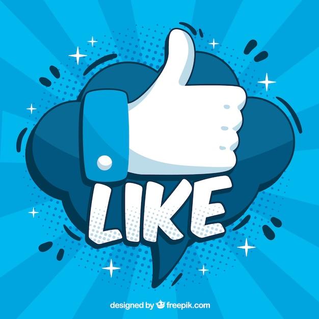 Tło Na Facebooku Z Podobną Ikoną Premium Wektorów