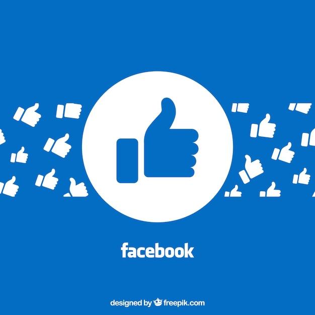 Tło Na Facebooku Z Polubieniami Darmowych Wektorów