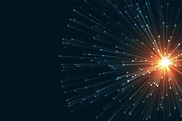 Tło Nauki W Stylu Sieci Technologii Cyfrowej Darmowych Wektorów