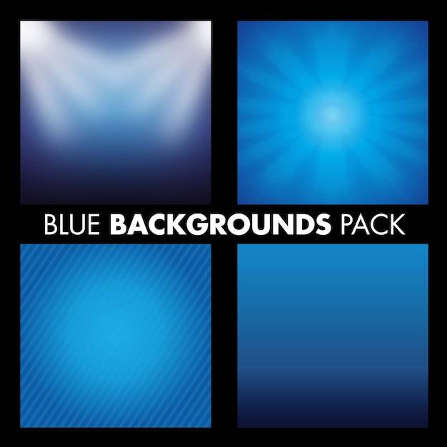 Tło Niebieski Pack Premium Wektorów