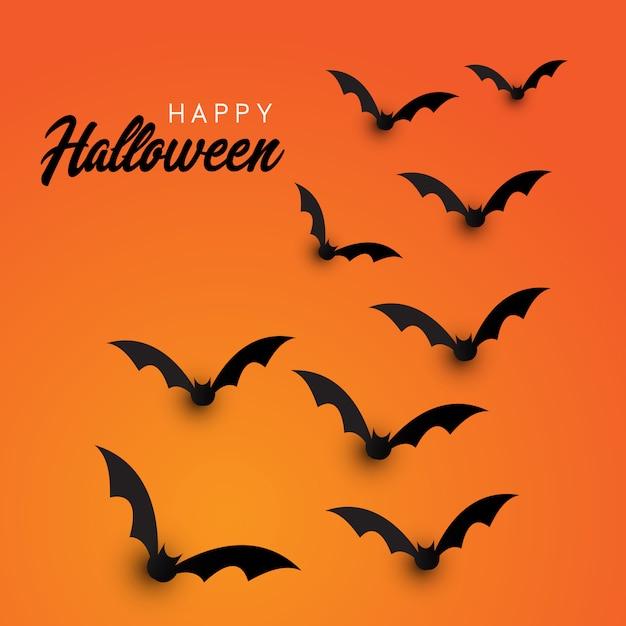 Tło nietoperzy halloween Darmowych Wektorów