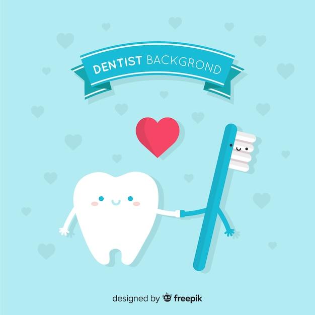 Tło płaskie dentysta Darmowych Wektorów