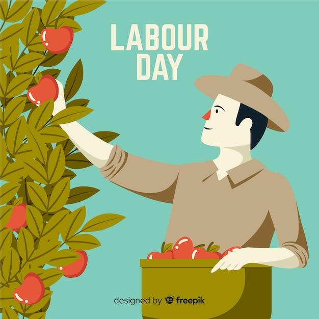 Tło Płaskie święto Pracy Darmowych Wektorów