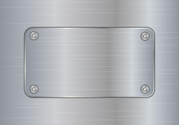 Tło Płytki Ze Szczotkowanego Srebrnego Aluminium. Premium Wektorów
