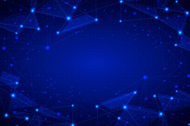 Tło Połączenia Sieciowego Z Kropkami Darmowych Wektorów