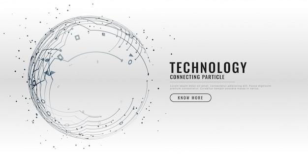 Tło projektu schemat obwodu technologii Darmowych Wektorów