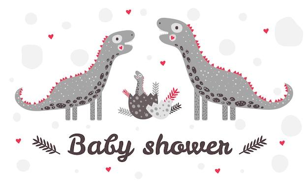 Tło Prysznic Baby Premium Wektorów