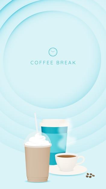 Tło Przerwa Na Kawę Premium Wektorów