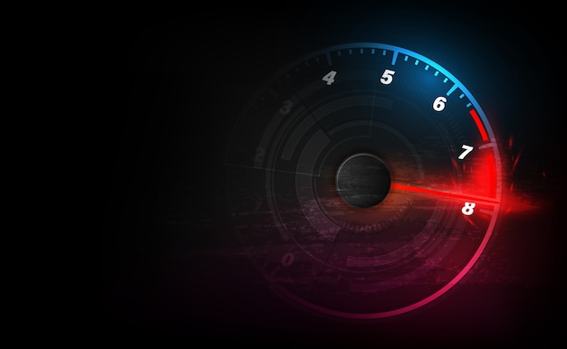Tło Ruchu Prędkości Z Szybkim Samochodem Prędkościomierza. Tło Prędkości Wyścigów. Premium Wektorów
