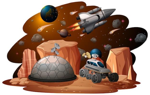 Tło Sceny Kosmicznej Darmowych Wektorów