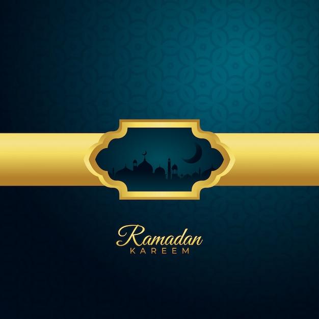Tło Sezon Kareem Ramadan Premium Wektorów