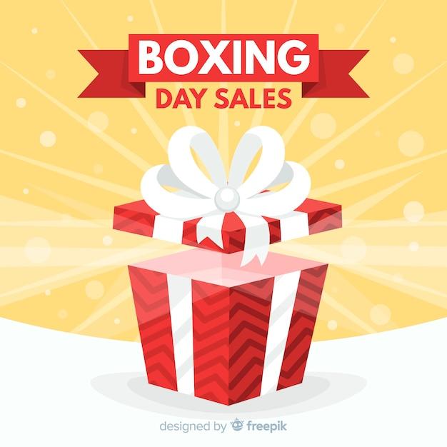Tło Sprzedaż Dzień Boxing Premium Wektorów