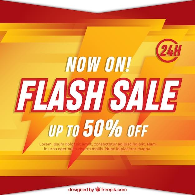 Tło Sprzedaży Flash W Stylu Gradientu Darmowych Wektorów