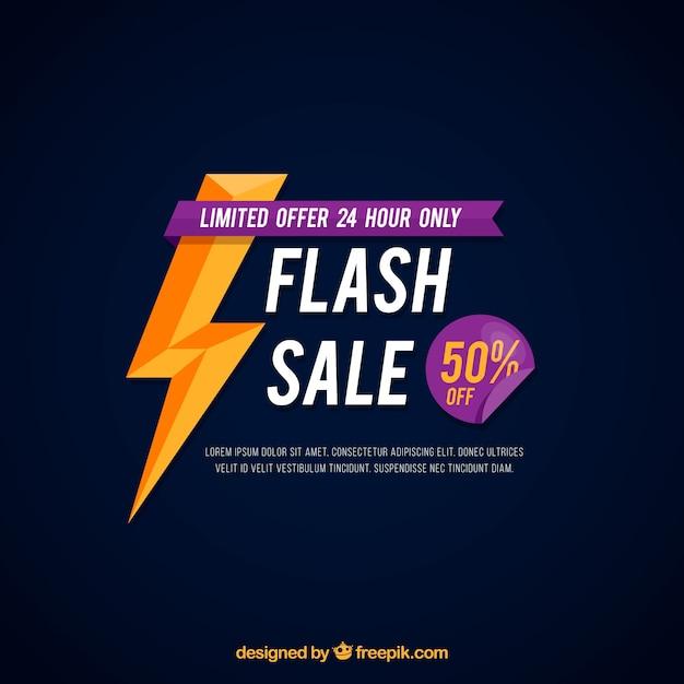 Tło Sprzedaży Flash Z Płaskim Stylu Darmowych Wektorów