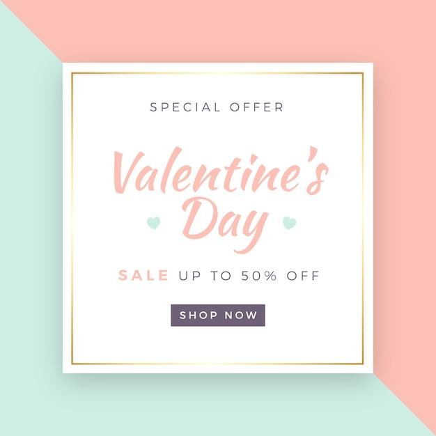Tło sprzedaży valentine's day Darmowych Wektorów