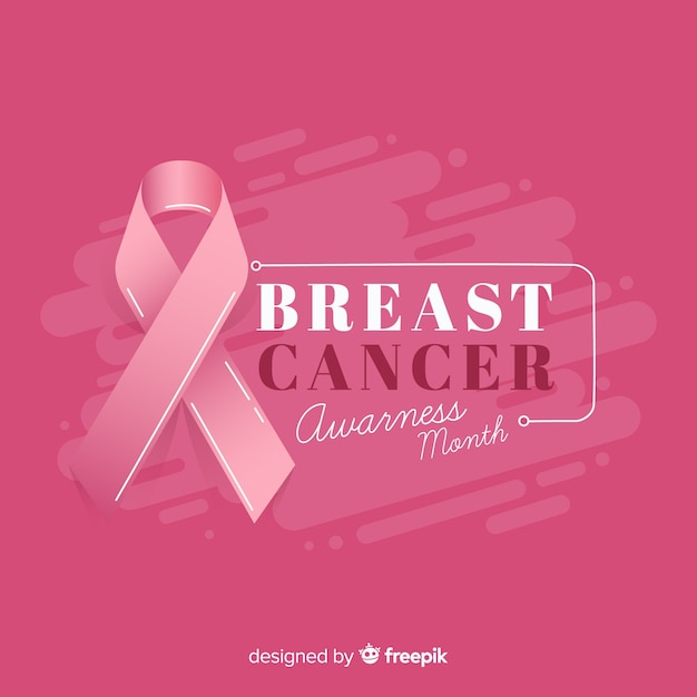 Tło świadomości raka piersi miesiąc Darmowych Wektorów