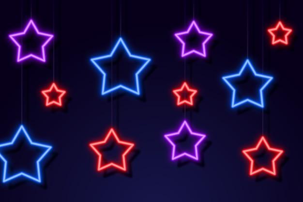 Tło światła Neonowe Premium Wektorów