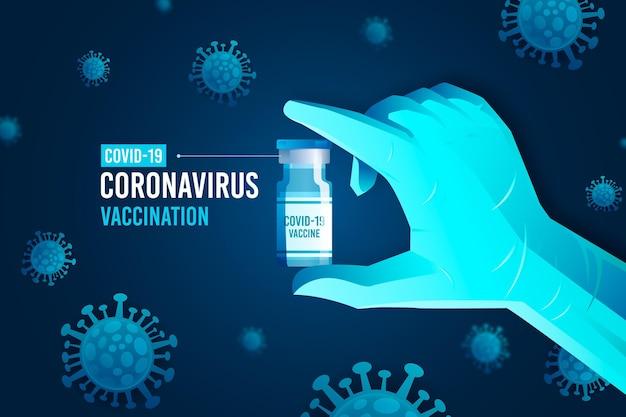 Tło Szczepienia Koronawirusem Darmowych Wektorów