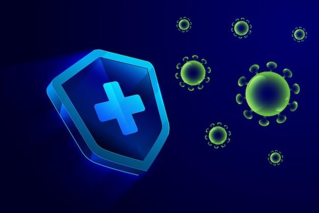 Tło Tarczy Ochronnej Koronawirusa Darmowych Wektorów