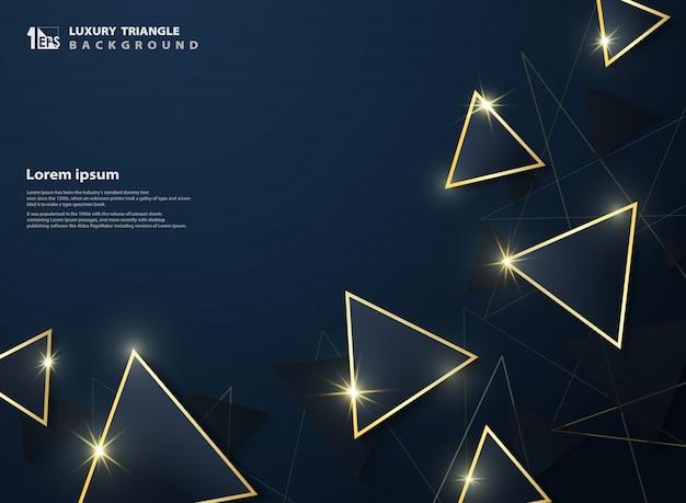 Tło trójkąta Premium Wektorów