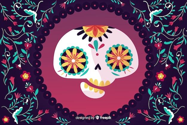 Tło twarz czaszki asymetryczne Darmowych Wektorów
